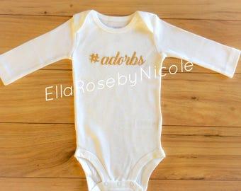 Baby onesie, Long sleeve onesie, Adorable, Custom, Sparkle, Glittery, Baby, Adorbs