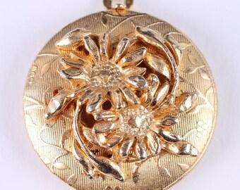 Vintage Gold Flower Locket