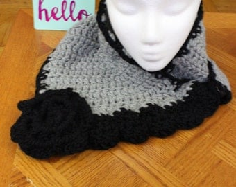 Scarf - Black & Gray - ON SALE!  was 11.99