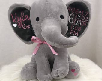 Custom Baby Announcement Elephant