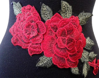 Sew on flower patch applique