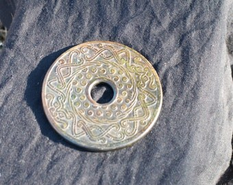 Antique Jade Dragon Biplate