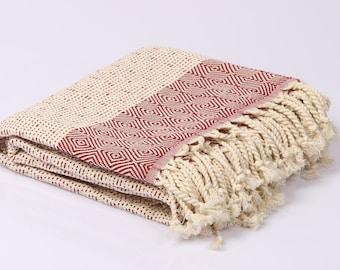 Hamamtuch, Pestemal, sauna towel and bath towel, Frotiertuch, hand-woven, 100% cotton, 95 x 180 cm