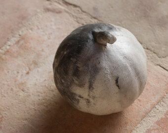 Melon, handmade, pit fire, one of a kind