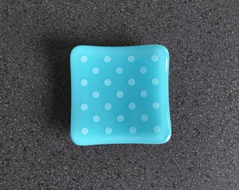 Dots Jewellery Dish - Turquoise/White