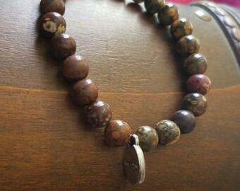 Imagine natural stone charm bracelet
