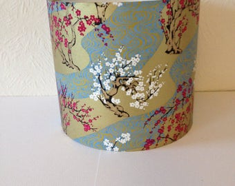 CHIYOGAMI, Japanese Paper Drum Lampshade 20cm diameter x 18cm high