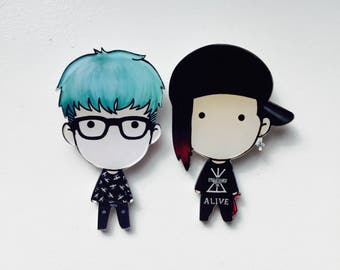 Big Bang K-Pop Pins | GDragon & T.O.P