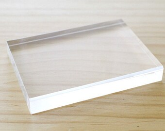 Clearance Sale - Clear acrylic block for stamping