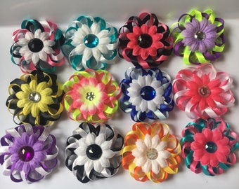 Loopy Flower Dog Bows