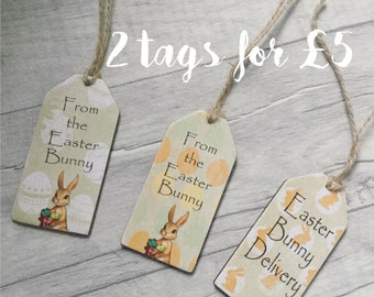 Wooden Easter gift tags - special offer - 2 tags
