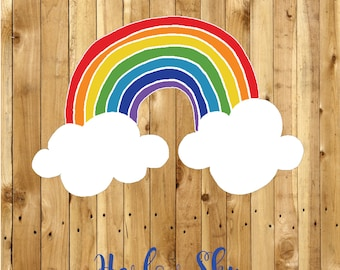 50 x Amazingly Super Rainbow Labels/Stickers Great for your packages/school/kids