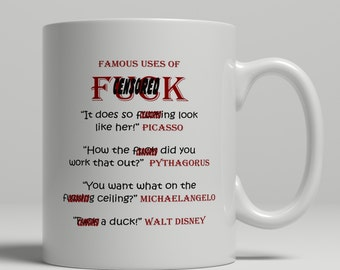 F*ck mug, famous quotes mug, mature coffee mug, profanity coffee mug, f bomb mug, awesome party mug, sarcasm mug, UK Mug Shop, RM2012