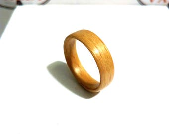Wooden Ring. Bentwood Ring. Maple wood