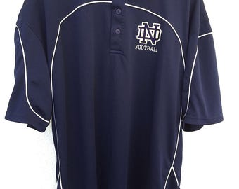 Vintage Notre Dame Football Polo Short Sleeve Shirt
