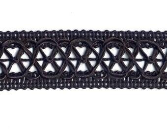 10m x 3cm Wide Ornate Black Braid - Chokers, Hat bands, Costume