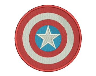 Captain America Shield Embroidery Design - 4 SIZES