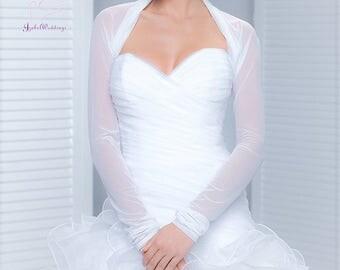 Bridal jacket tulle long sleeve