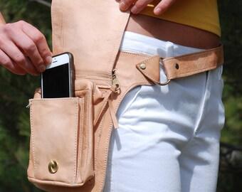 Leather Belt Bag, Hip Bag, Waist Bag, Utility Belt, Festival Bag, Festival Belt Bag, Burning Man, Festival Hip Belt, Moroccan Leather Bag