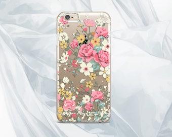 Floral case iPhone 7 Case flowers cover iPhone 7 Plus S7 Edge floral case iPhone 6 case clear case Google Pixel XL case samsung note 5 case
