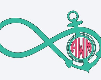 Personalized Anchor Infinity Decal