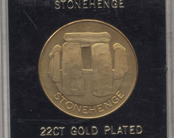 22ct Gold Plated Stonehenge Medallion