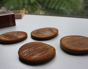 Rough Sawn Timber Coaster Set - Tree Branch Coaster - Hardwood