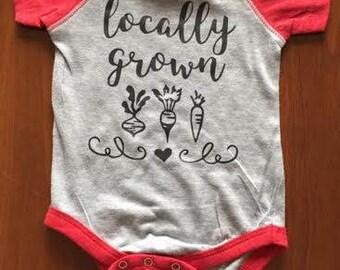 Locally Grown Infant Onsie