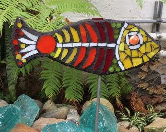 Mosaic Bright Garden Fish