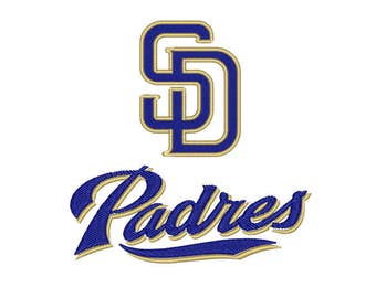 Padres embroidery design - Machine embroidery design