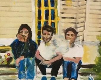 stoop kids | acrylic on canvas | AVMRT original