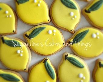 Sugar cookies lemons