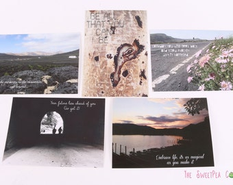 Photographic Quote A6 Postcard Bundle