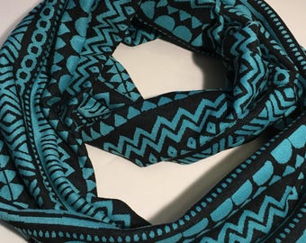 Infinity Scarf, Aztec Patterned Knit