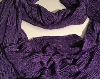 Infinity Scarf, Purple Grape Pleated Scarf
