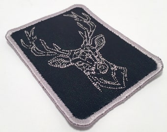 Leather Stag Patch