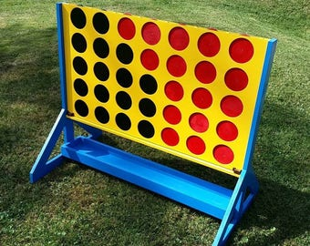 Giant Four in a Row (Connect Four) Lawn Game