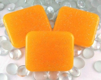Sparkly Orange Clementine Soap Bars