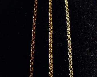 Necklace Chain - Silver, Gold, or Copper