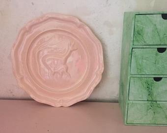 Pink deer Board made of ceramic