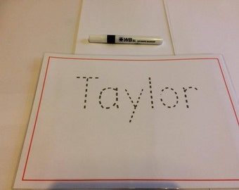Personalised, Double Sided Learnt to Write Your Own Name