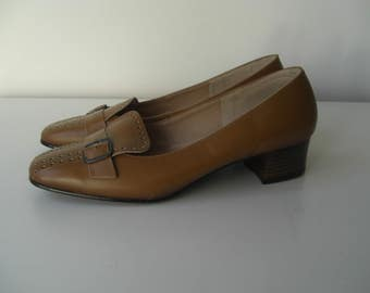 Leather loafers from the 60s in new condition size 36