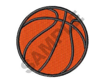 Small Basketball - Machine Embroidery Design
