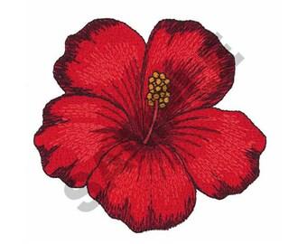 Hibiscus Flower - Machine Embroidery Design