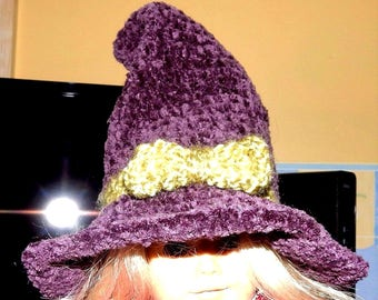 Handcrafted WITCH WIZARD HAT for 18 in doll (American Girl)