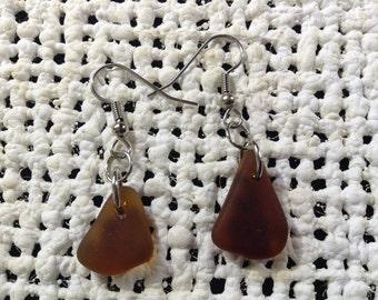 Authentic Hawaiian beach glass earrings