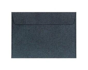 50 Pack Metallic Black Envelopes Size 4 1/2 x 6 3/8 inches. (11.4 x 16.2 cm.)