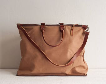 Canvas Bag, Handbag, Canvas Tote Bag Women, Leather Bag, Shoulder Bag, Canvas Travel Bag, Travel Tote Bag, Canvas Weekender, Canvas Handbag