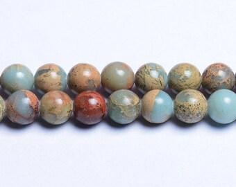 Aqua terra jasper beads 8mm natural aqua jasper 8mm natural aqua beads snake skin jasper 8mm african opal beads earthy beads handmade supply