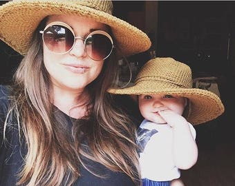 Matching Cotton Sun Hats for Mommy and Baby, Beach Hats for Kids, Gifts for Moms, Black Friday Sale, Cyber Monday Sale, Travel and Vacation